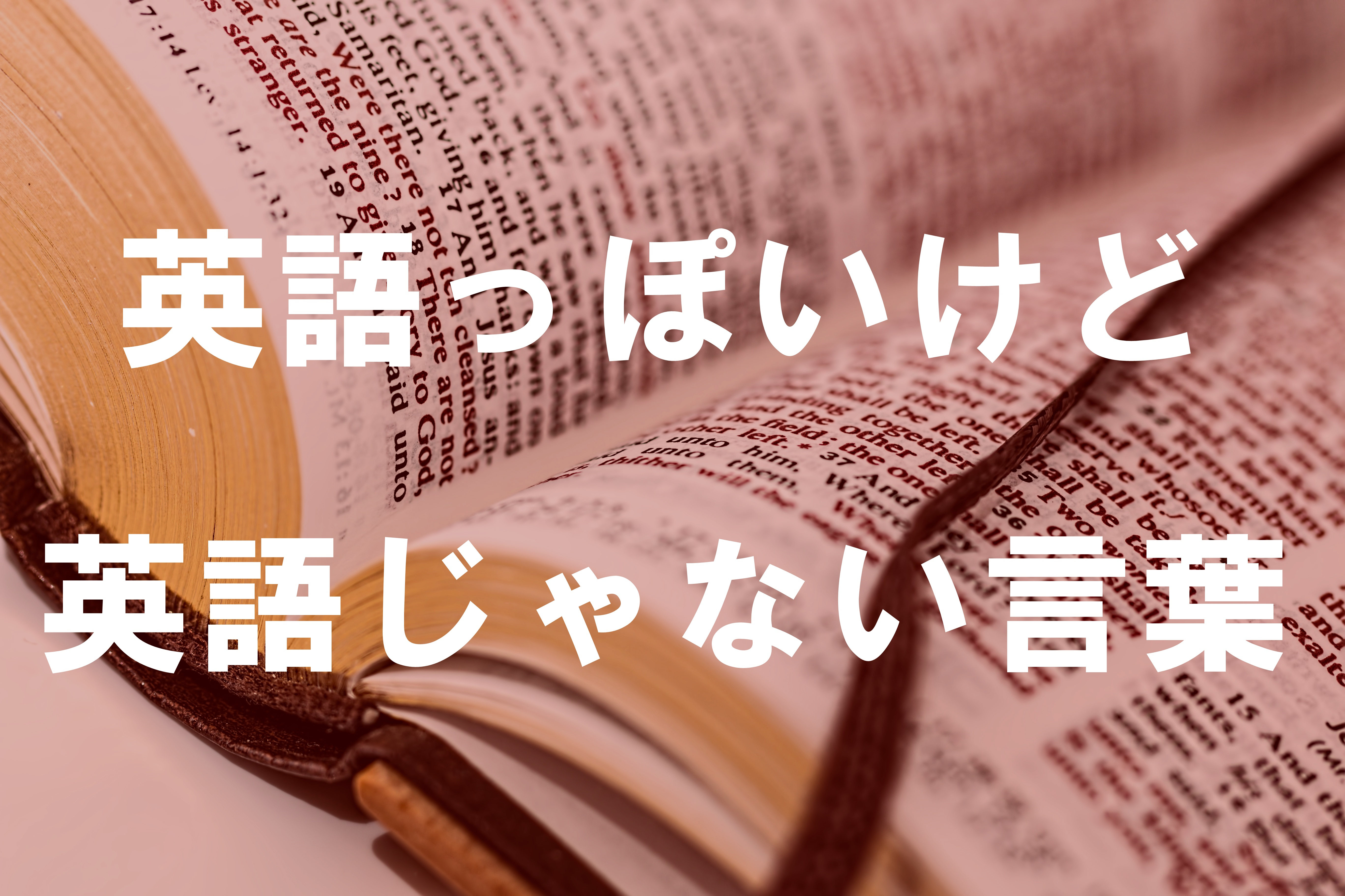 英語っぽいけど英語じゃない言葉