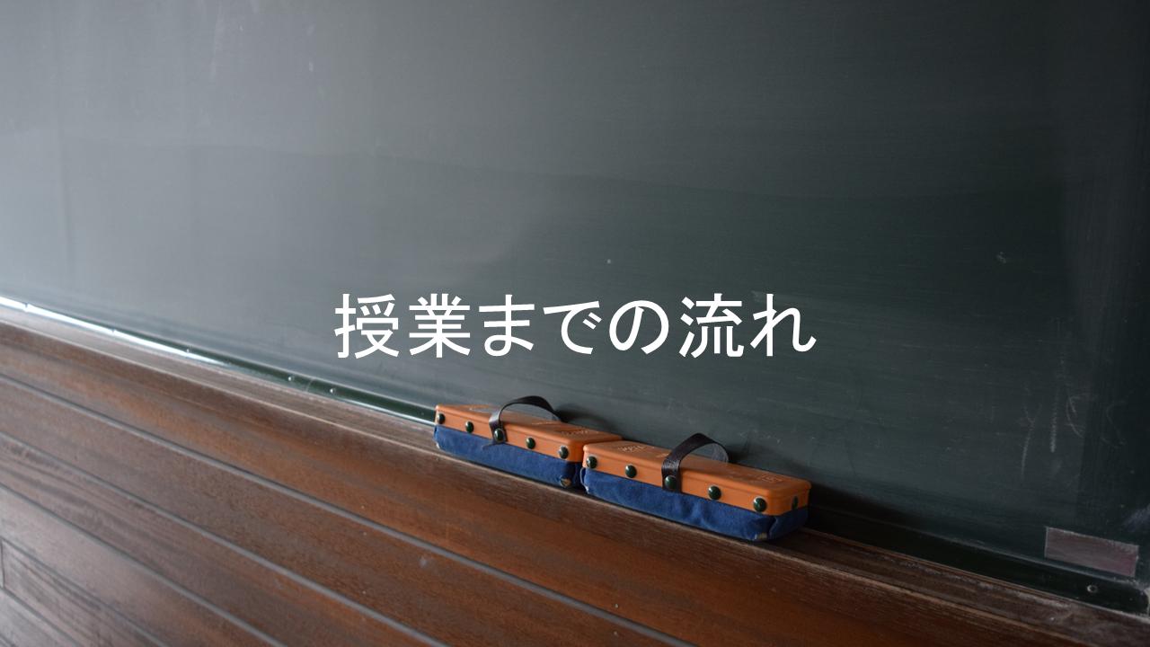 授業までの流れ