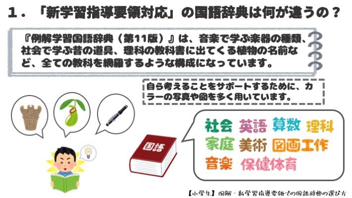 【小学生】図解・新学習指導要領での国語辞典の選び方