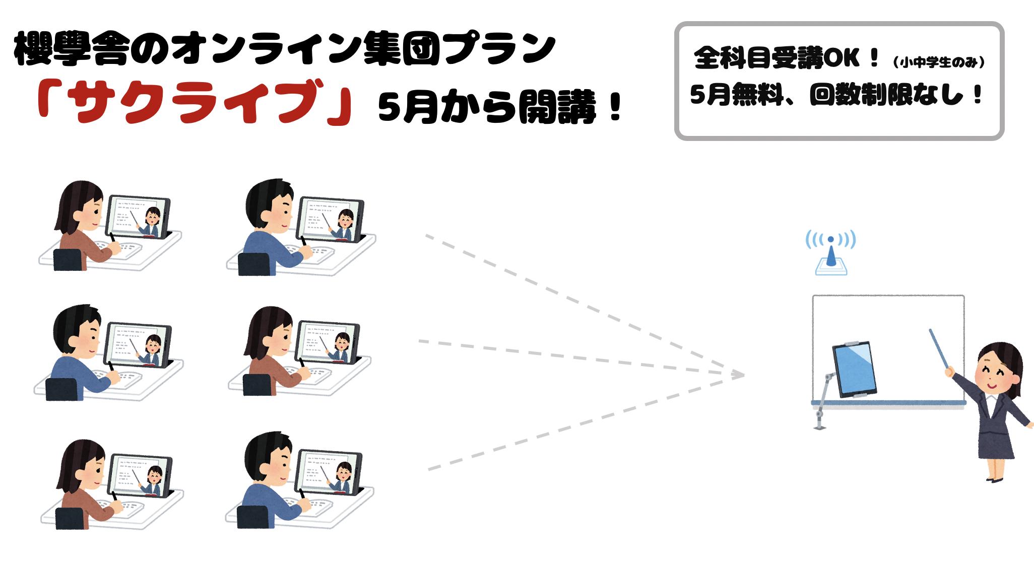 【集団オンライン授業】「サクライブ」を開講します